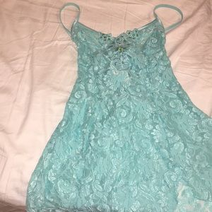 Lingerie dress with attached thong brand new